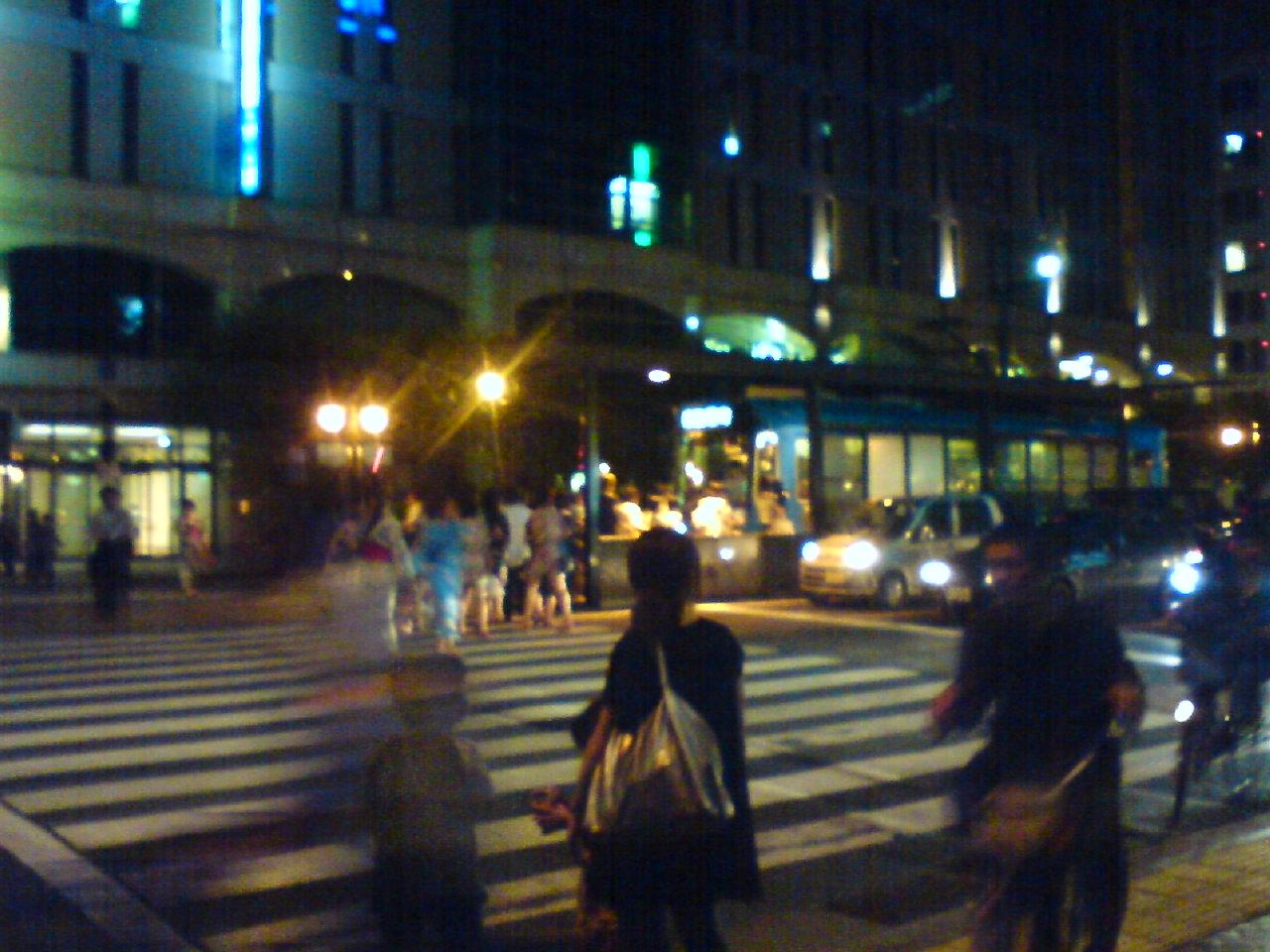 公共交通機関の夜